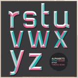 Retro stile di colore di alfabeto. Fotografia Stock