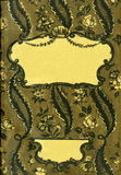 Retro stile incornici l'ornamento floreale alle pagine di vecchi libri Fotografie Stock Libere da Diritti