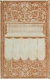 Retro stile incornici l'ornamento floreale alle pagine di vecchi libri Immagine Stock