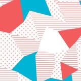retro stile 80s e 90s Il modello di Memphis Tendenza della progettazione astratta con le forme geometriche royalty illustrazione gratis