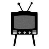 Retro stile TV Immagine Stock
