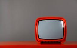 retro stilfull tv Arkivbilder