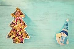 Retro stiliserad julbakgrund Arkivbild