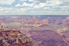 Retro stiliserat foto för tappning av Grandet Canyon Arkivbild