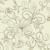 Retro- stilisiert nahtloses Muster Stockbilder