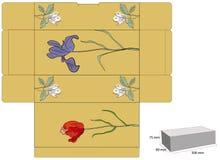 Retro- stilisiert Schablone für Kasten Stockbild