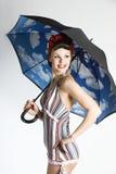 retro stilkvinna för utvikningsbrud Royaltyfri Bild