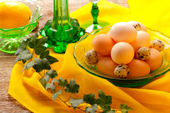 Retro still life with eggs Stock Image