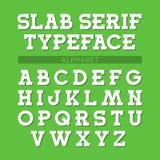 Retro stilsort, alfabet Royaltyfria Bilder