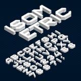 Retro stilsort för bandalfabetvektor Skraj typbokstäver, nummer och symboler i 70-tal utformar vektor illustrationer