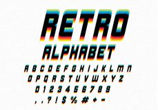 retro stilsort royaltyfri illustrationer