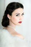Retro stilstående av den attraktiva barnmodellen Royaltyfria Bilder