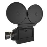 Retro stilvideokamera som isoleras på white Royaltyfria Bilder