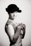 Retro stilvuxen människakvinna Royaltyfria Bilder