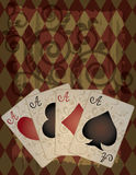 retro stilwallpaper för poker Royaltyfri Bild