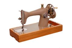 A retro stitching machine Stock Photo