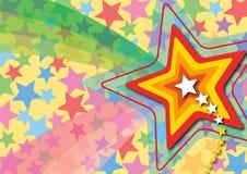 retro stjärna för popregnbåge vektor illustrationer