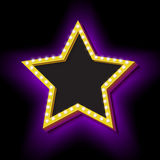 Retro stjärna för tappning med ljus stock illustrationer