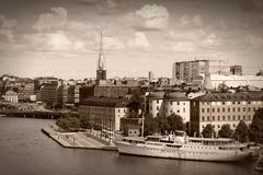 Retro Stockholm Royalty Free Stock Photo