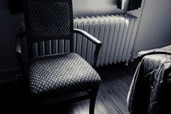 Retro stoel van de hotelruimte Royalty-vrije Stock Foto's