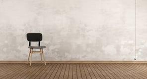 Retro stol i ett rum vektor illustrationer