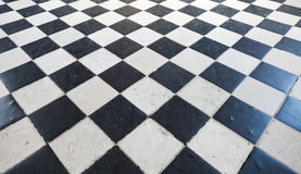 Retro stone floor tiling pattern Royalty Free Stock Image