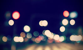 Retro stonowane zamazane latarnie uliczne Zdjęcie Stock