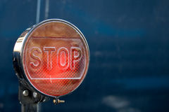 Retro Stop brake light Stock Images