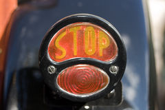 Retro Stop brake light Royalty Free Stock Photo