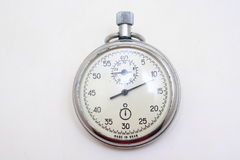 Retro stop watch. Retro pocket stop watch on white background Stock Images