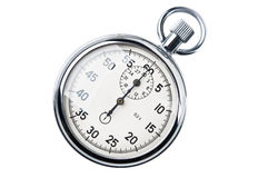 Retro stopwatch. Isolated on a white background Stock Image