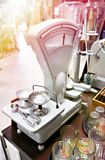 Retro store scales. With glass and dishes stock photography