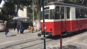 Retro- Straßenbahn stock video footage