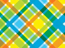 Retro strand blauwe oranje plaid royalty-vrije illustratie