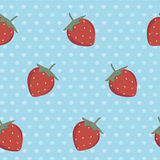 Retro strawberry pattern Stock Photography