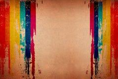 Retro streep vervormde grungy patroon met modieus Stock Afbeeldingen