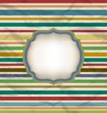 Retro streeppatroon, kleurrijke uitstekende achtergrond Stock Fotografie