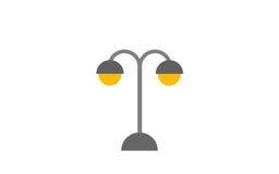 Retro street lamp, object illustration Royalty Free Stock Photography