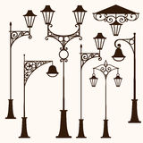 Retro street lamp. A set of retro vintage street lamps royalty free illustration
