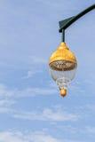Retro Street Lamp in Sunshine Day, Closeup Stock Photo