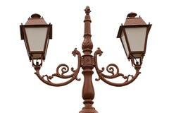 Retro street light lamp post, isolated Royalty Free Stock Photo
