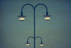 Retro streetlights Stock Image