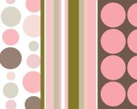 Retro- Streifen und Kreishintergrund Lizenzfreie Stockbilder