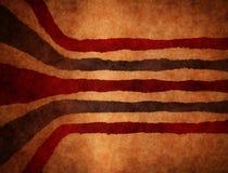Retro- Streifenschmutz-Braunhintergrund Stockbild