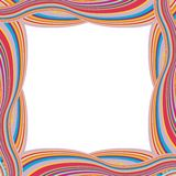 Retro Striped Frame with Colored Stripes Stock Image