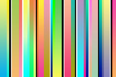 Retro Stripes. Lots of multicolored retro stripes Royalty Free Stock Images