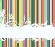 Retro stripes banner background Royalty Free Stock Images