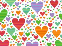 Retro stripes candy hearts Royalty Free Stock Image