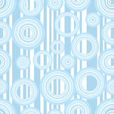 Retro stripes and circles. Seamless retro stripes and circles background royalty free illustration