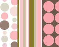 Retro stripes and circles background. Retro pink and brown stripes and circles background vector illustration